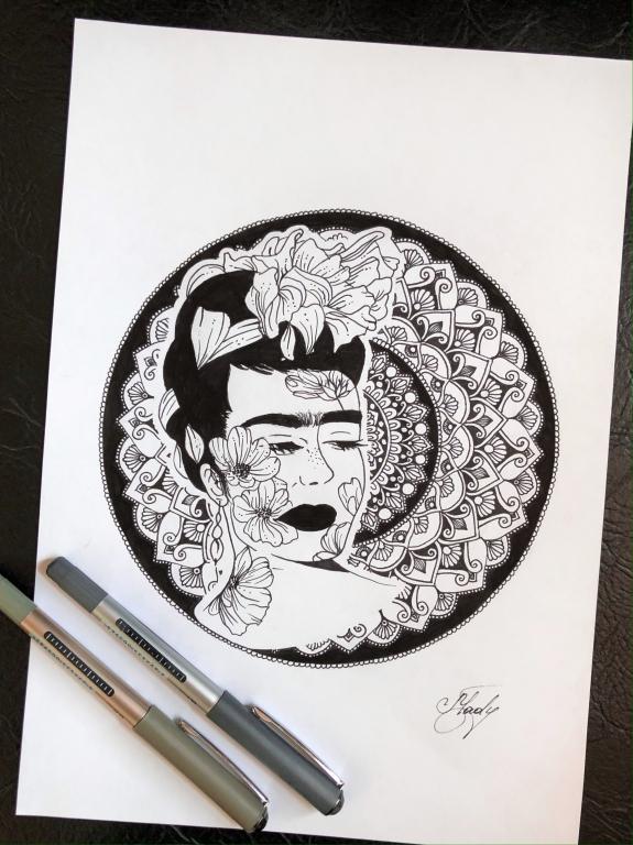 """""""Frida Kahlo"""" Mandala"""