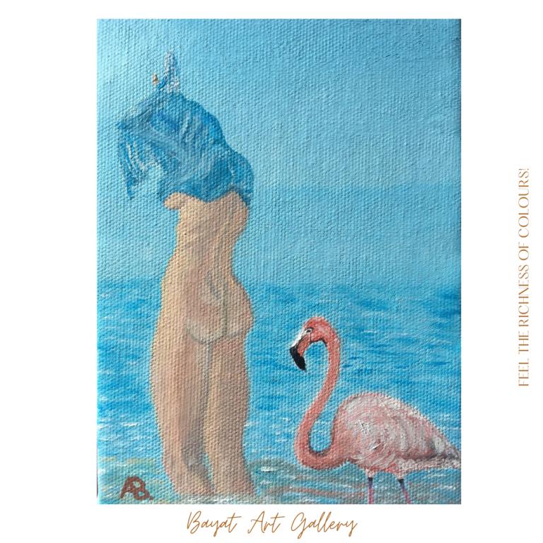 Flamingo qadın - Lady flamingo