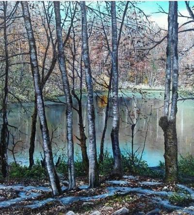 Əmbil gölü mənzərəsi
