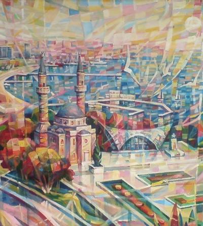Bakı panoraması-Şəhidlər məscidi