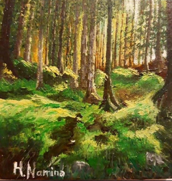 Meşədə günbatımı